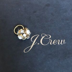 J.Crew Gold and Crystal Statement Ring